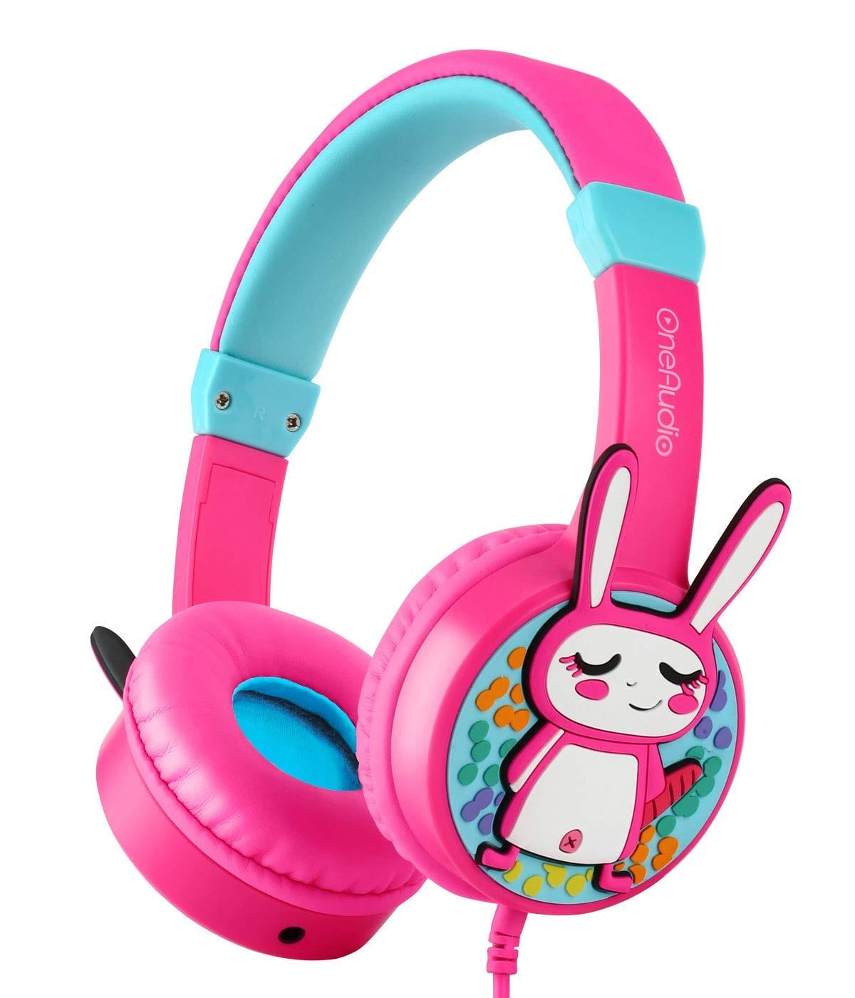 OneAudio 85dB Volume Limited Headsets Compatible for/Toddler/Girls/Kindle/Airplane/iPhone $8.44+FS