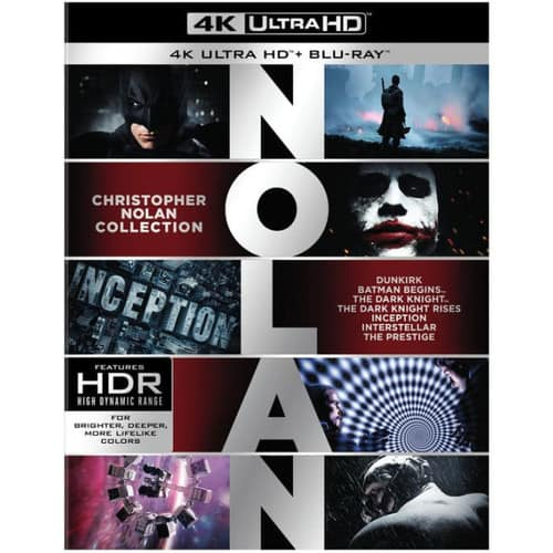 Christopher Nolan 4K Collection (7 Films) $118.34 after coupon at B&N