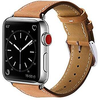 $7.99  Benuo Apple Watch Genuine Leather Band for Series 3/2/1 & Fitbit Blaze 100% Leather Band -Free Shipping @Amazon w/ Promotion Code: BEQPWREZ
