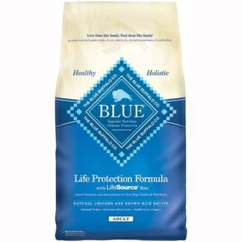 BLUE Buffalo Life Protection Formula Adult Dry Dog Food [Chicken & Brown Rice Recipe, 30 lb] $34.99