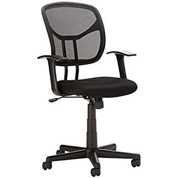 Flash Furniture Mid-Back Black Mesh Swivel Task Chair with Arms  $37.13 @ Amazon