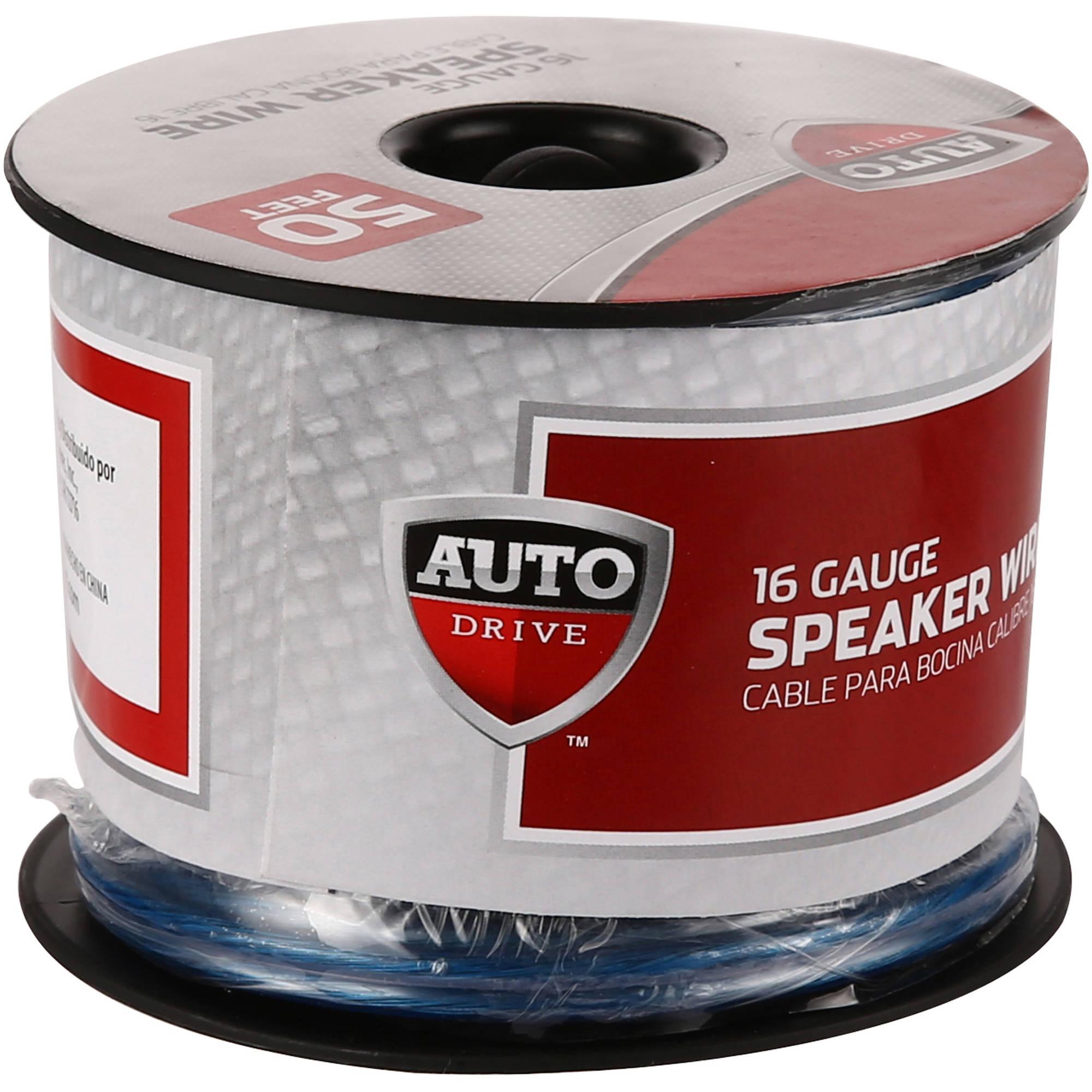 Auto Drive 16ga Speaker Wire 50 Feet $1.95