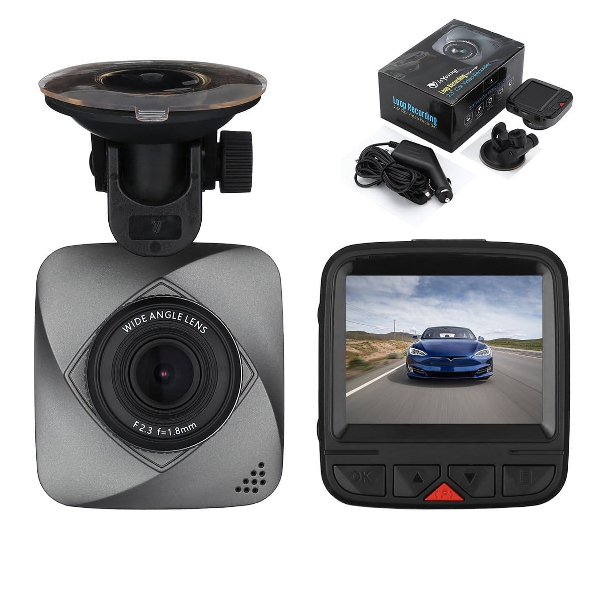 isYoung Dashboard Camera 720P HD Car Vedio Recorder $13