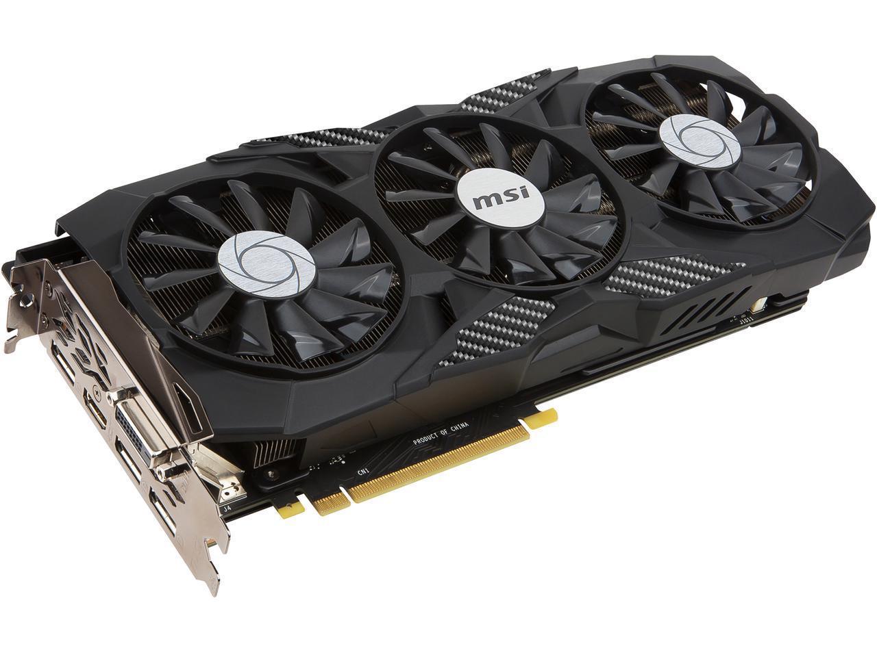 MSI GeForce GTX 1080 DirectX 12 GTX 1080 DUKE 8G, $599.99 + 4.99 Shipping
