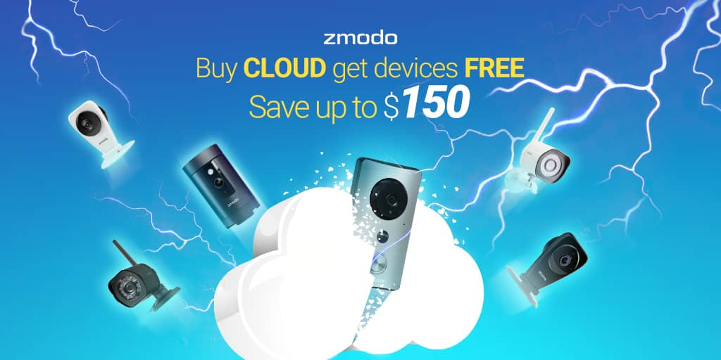 FREE devices with Cloud service subscription on Zmodo.com $99.99