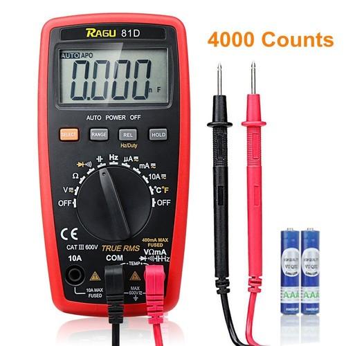 Auto Ranging Digital Multimeter, AC/DC Voltage/Current Resistance Temperature $9.5