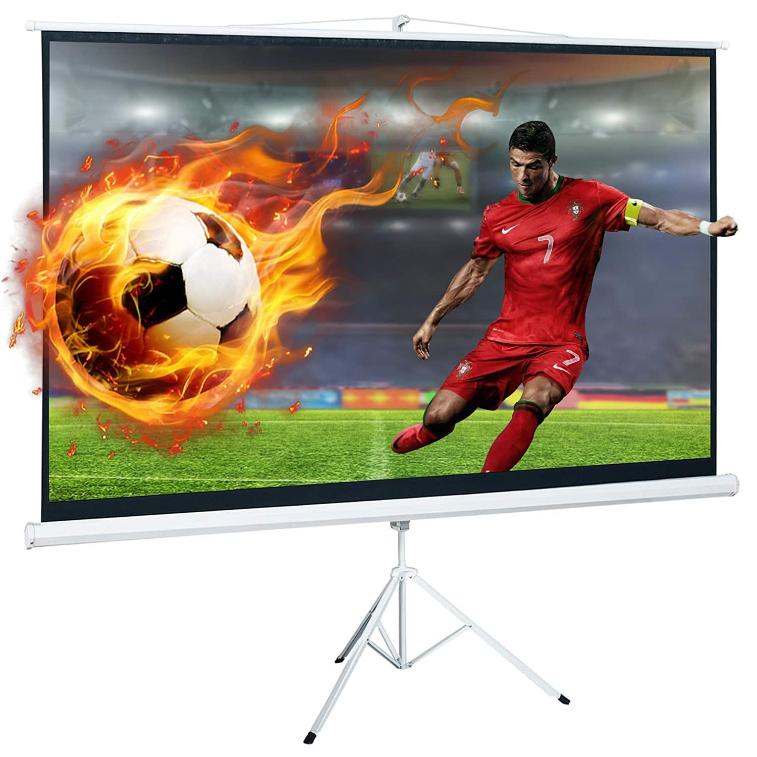 100 Inch 16:9 Portable Pull Up Tripod Projector Screen @Amazon $43.99+ Free Shipping