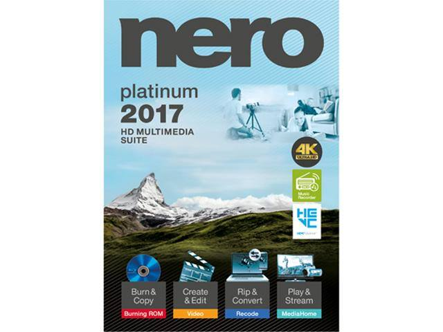Nero 2017 Platinum Audio & Video Software for $19.99 + Free Shipping