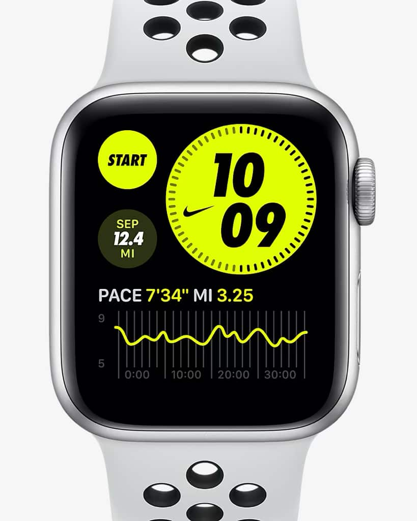 Apple Watch Nike Series 6 (GPS + Cellular) with Nike Sport Band - $375