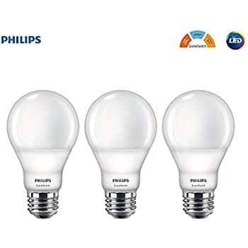Philips LED A19 SceneSwitch Color Change Light Bulb: Daylight/Soft White/Warm Glow (60-Watt Equivalent), E26 Base, 3-Pack $14.53