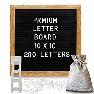 Felt Letter Board 10 x 10Inch Changeable Letter Board with Canvas Letter Bag $19.75