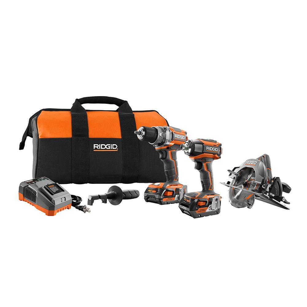 Ridgid 18V 3 brushless tool kit + 2 free bare tools 349$ +tax Home Depot B&M YMMV