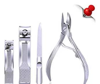 Stainless Steel Nail Clippers and Toenail Clippers Set $4.78