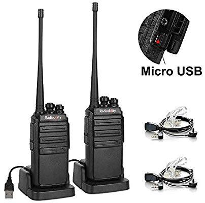 Radioddity GA-2S Long Range Walkie Talkies UHF Two Way Radio Rechargeable with Micro USB Charging - $19.99AC