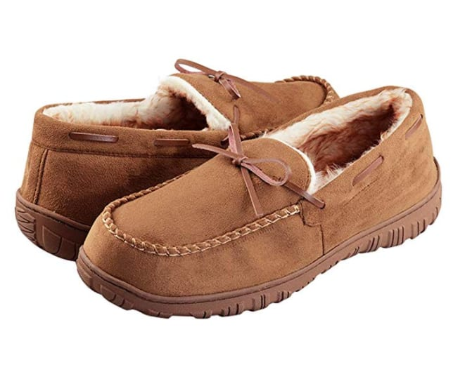 VLLY Mens Cozy Pile Lined Indoor Moccasin Slippers - $12.40AC