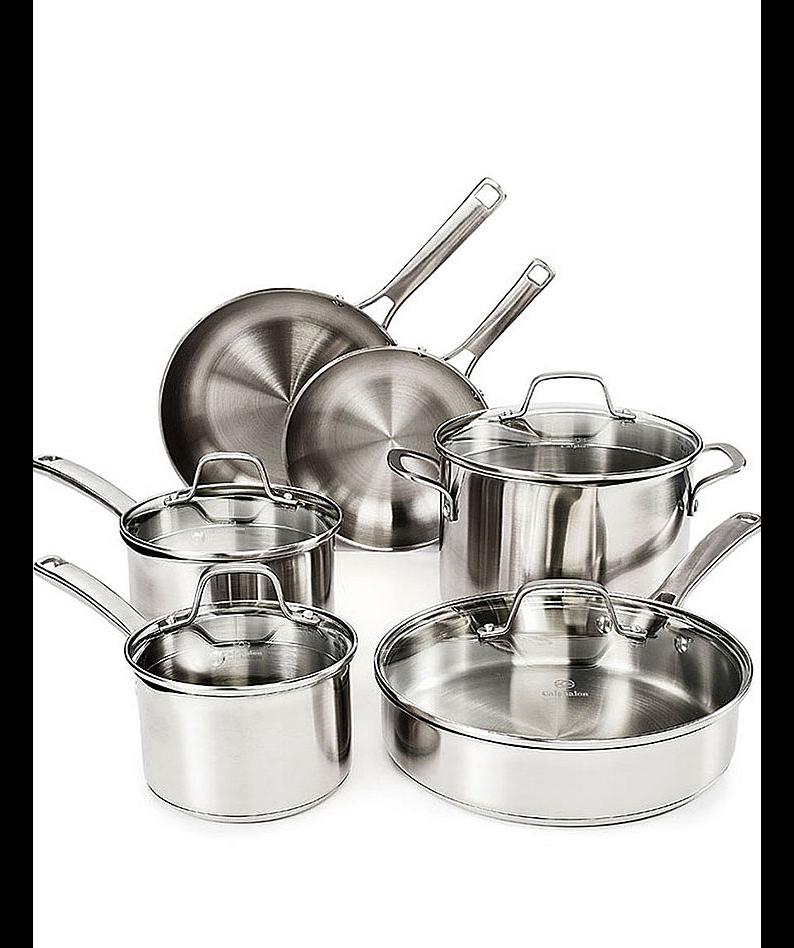 Calphalon Classic Stainless Steel Cookware Set, 10-Piece [10-Piece] $110.49
