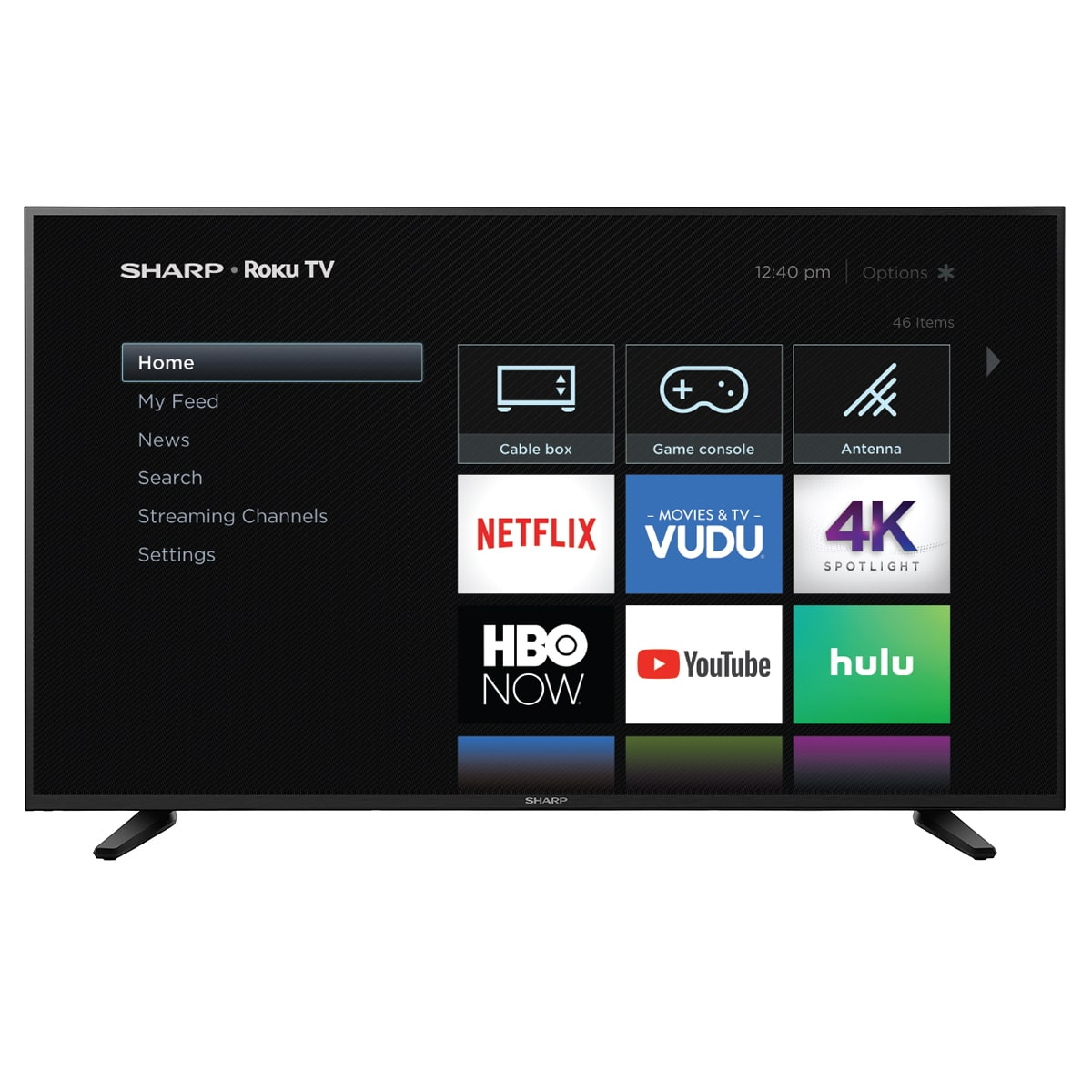 "Sharp 58"" Class 4K Ultra HD (2160P) HDR Roku Smart LED TV (58Q7330U) $300 YMMV"