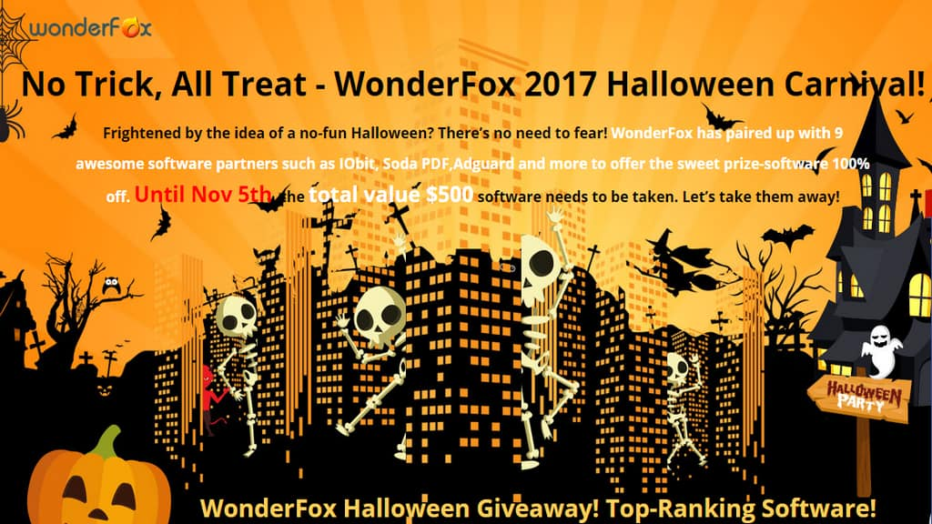Free 10 Software Full Version Downloads for Halloween (IObit, Soda PDF and etc)