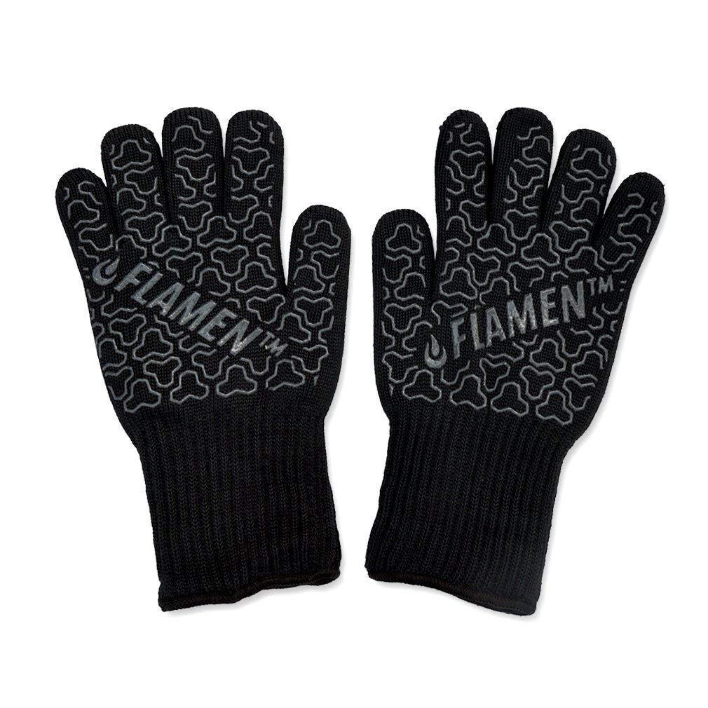 Flamen BBQ Gloves 932 °F 500°C Heat Resistant Oven Mitts 13 inch $11.99