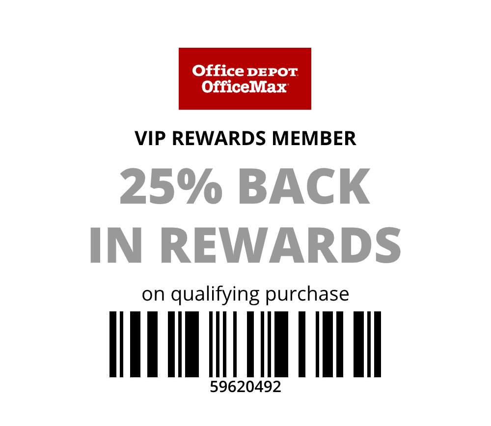 Office Depot 20-25% back in rewards on purchases including SCHOOL SUPPLY SALE from 50c valid online or in store with printable Q