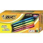 BIC® Brite Liner® Highlighters, Assorted Colors or all Yellow, Value Pack, 24/Pack $4 ship with Staples Rewards or fs to store