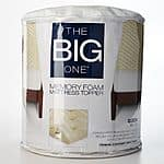 The Big One® 1 1/2-in. Memory Foam Mattress Topper ANY SIZE $24.50 shipped with Kohls Charge (order two, get $10 Kohls Cash)