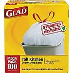 Glad® Tall Kitchen Drawstring Trash Bags, White, 13 Gallon, 100 Bags/Box $8.79 after rewards ship, Scott Paper Towels $3.99 a/20%back in Staples Rewards