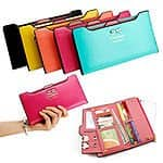 New Fashion Lady Women Leather Clutch Wallet Long Card Holder Case Color Choice $6 shipped EBAY DAILY