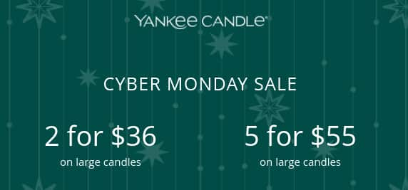 YANKEE CANDLE Five Large Candles $55 shipped (no code required) TODAY MONDAY ONLY