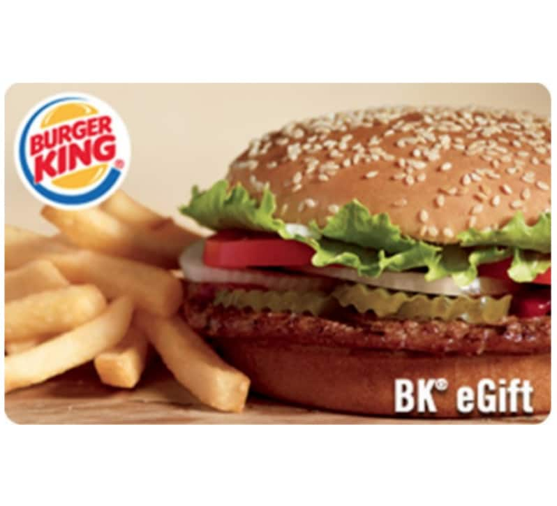 $25 Burger King E-Gift Card $20 on Ebay (instant delivery) limit 5 per buyer