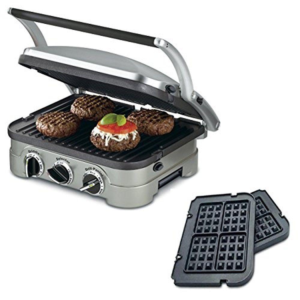 Cuisinart GR-4N 5-in-1 Griddler W/Bonus Waffle Plates $40.50 ac shipped EBAY MANU. REFURBISHED ITEM