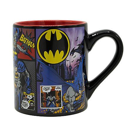 DC Comics Mug, Batman or Wonder Woman, 14 Oz   $1.99 free store pick up OFFICE DEPOT  (stock based on area)