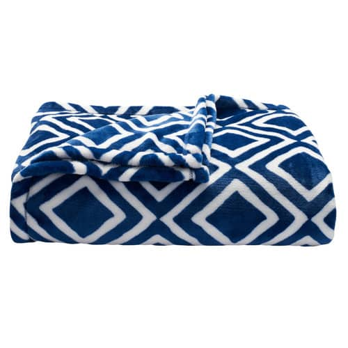 The Big One® Supersoft Plush Throw in Blue Plaid $8.39 ac shipped KOHLS CARDHOLDERS