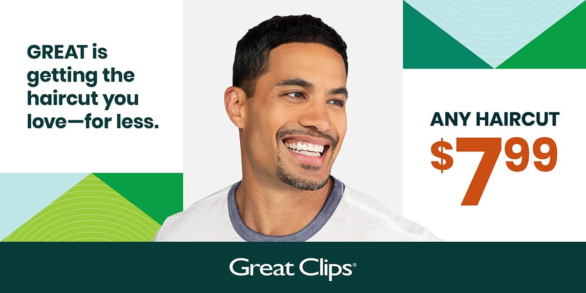 GREAT CLIPS (PA/NJ/DE only) $7.99 haircut with printed Q from link ex 1/31/20