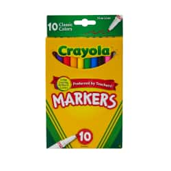 Office Depot: Crayola Broad and Fine Line Markers (10 count) or Colored Pencils (12 ct) 75 cents, Crayola 24 ct Crayons 49c Limit 6 EACH item with free shipping