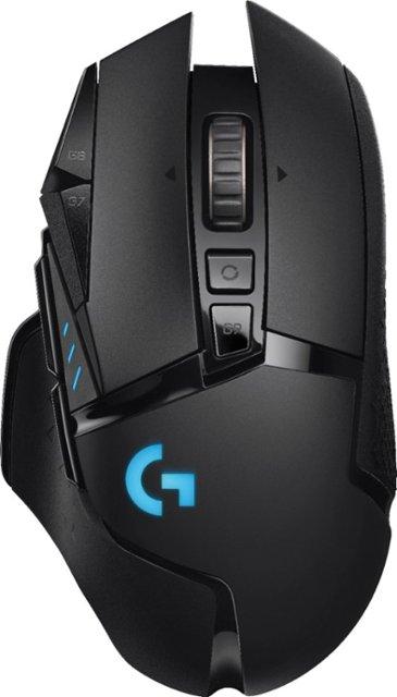 Logitech - G502 Lightspeed Wireless Optical Gaming Mouse with RGB Lighting - Black - $119