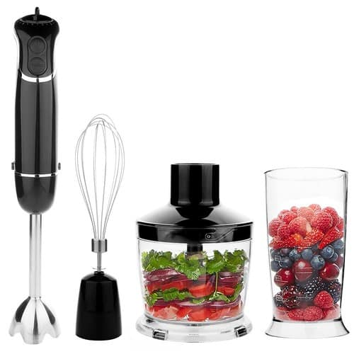 OXA Powerful 4-in-1 Hand Blender, 300 W - Black [4-in-1] $29.99
