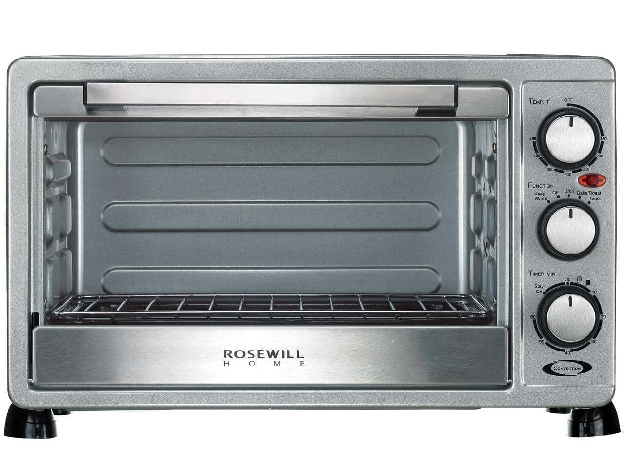 Rosewill 6-Slice Convection Toaster Oven Countertop, Stainless Steel,  RHTO-17001 for $39 after 50% discount code f/s@newegg.com