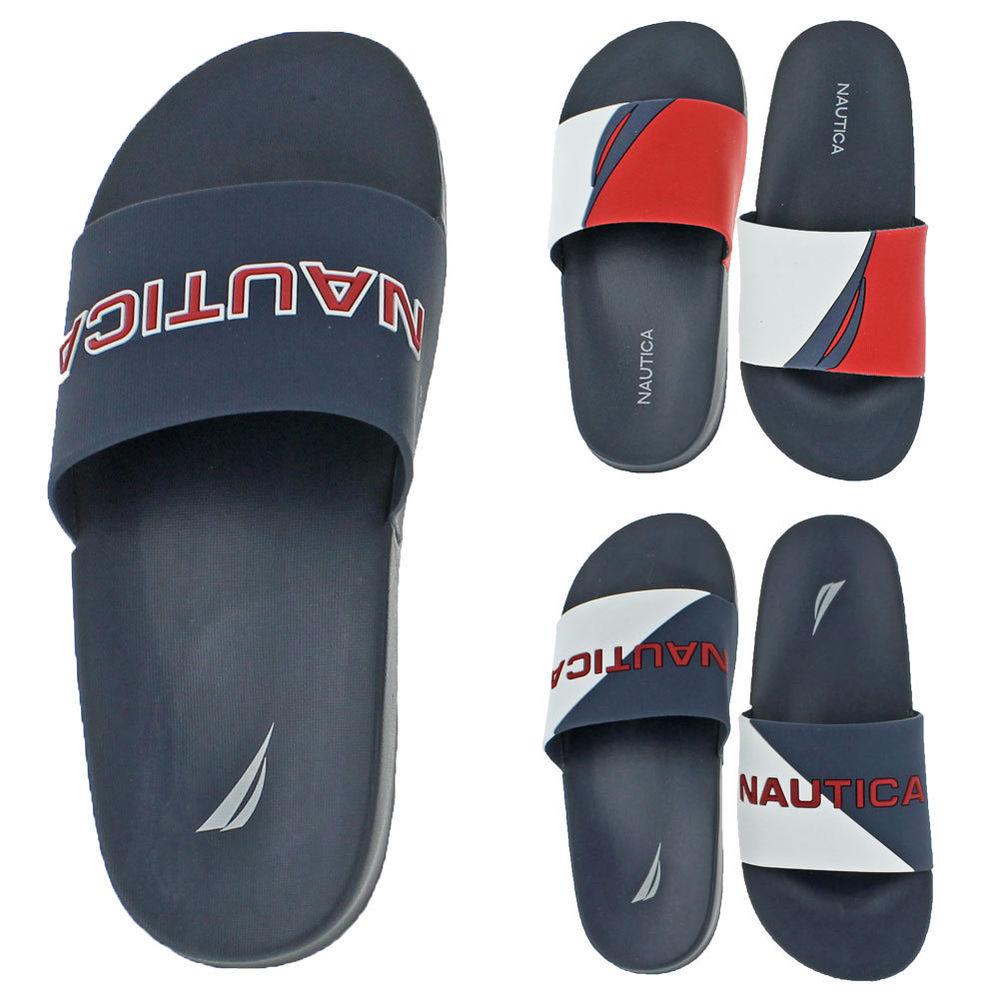 Nautica Men's Slide Sandals Retro 90s Style for$17.99