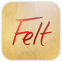 Handwritten Card from FELT with Code (In APP, for iPhone/iPad)