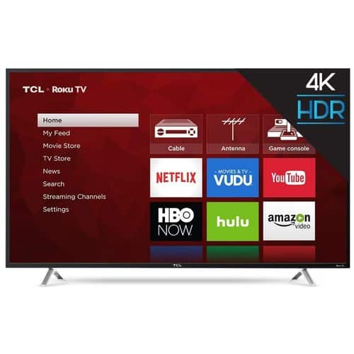 Amazon TCL 55S405 55 inch 4K HDR Smart Roku LED TV $369.99