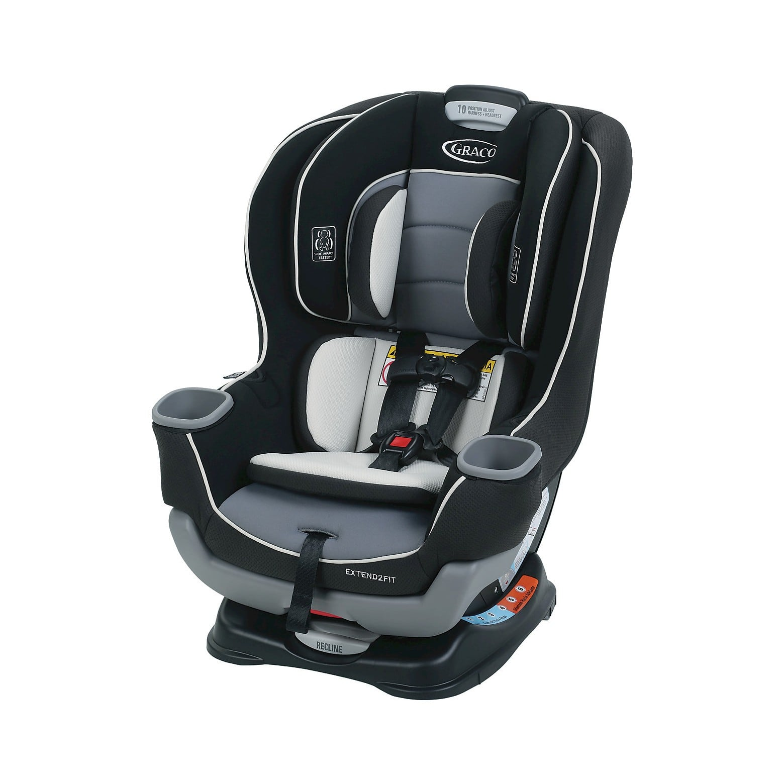Graco Baby Extend2Fit Convertible Car Seat in Gotham $119.19