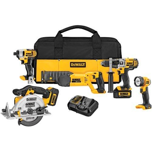 DEWALT DCK592L2 20V MAX Premium 5-Tool Combo Kit for $399 at Amazon