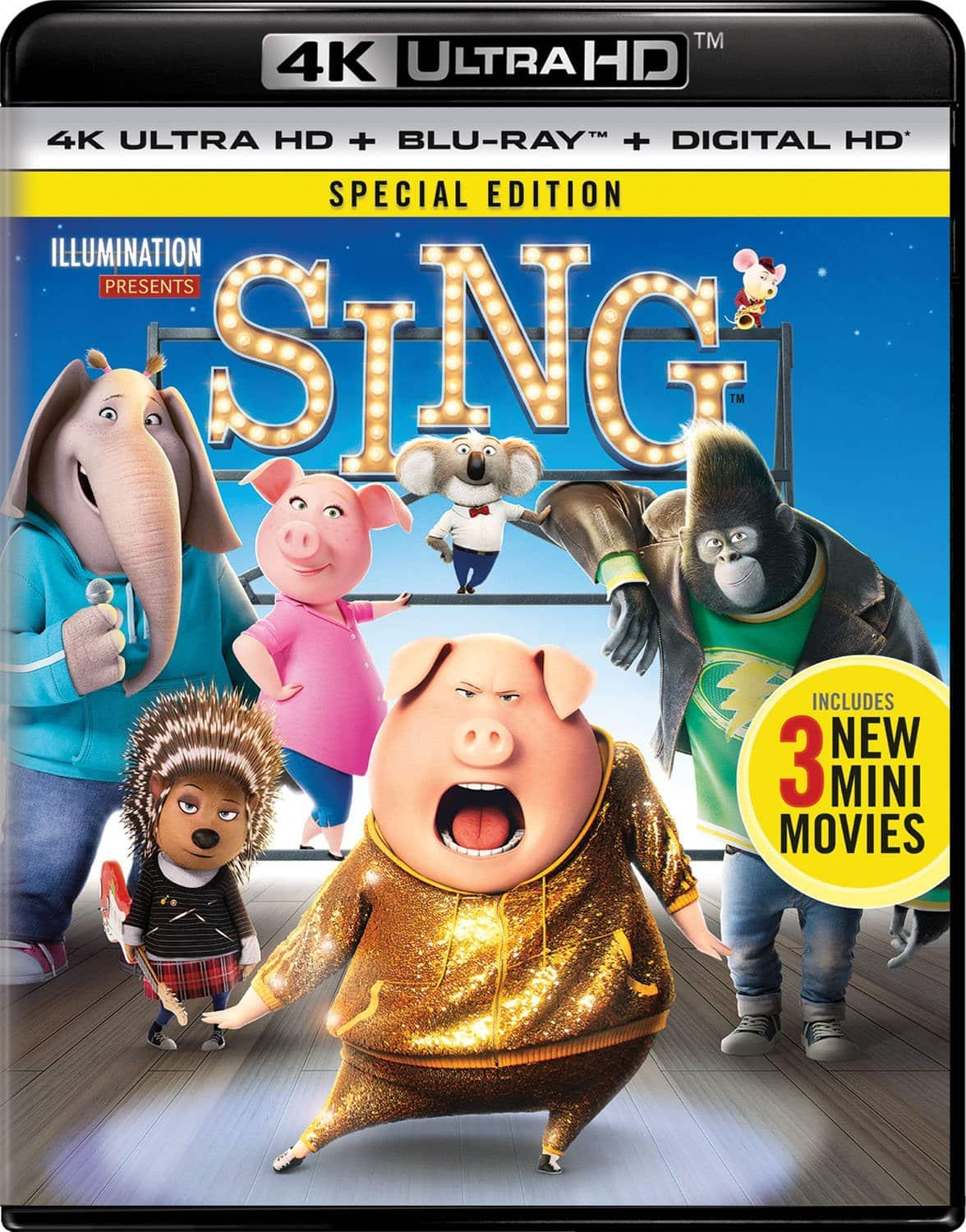 Sing  (Special Edition) [Blu-ray + 4K] for $16.99 at Amazon & Walmart