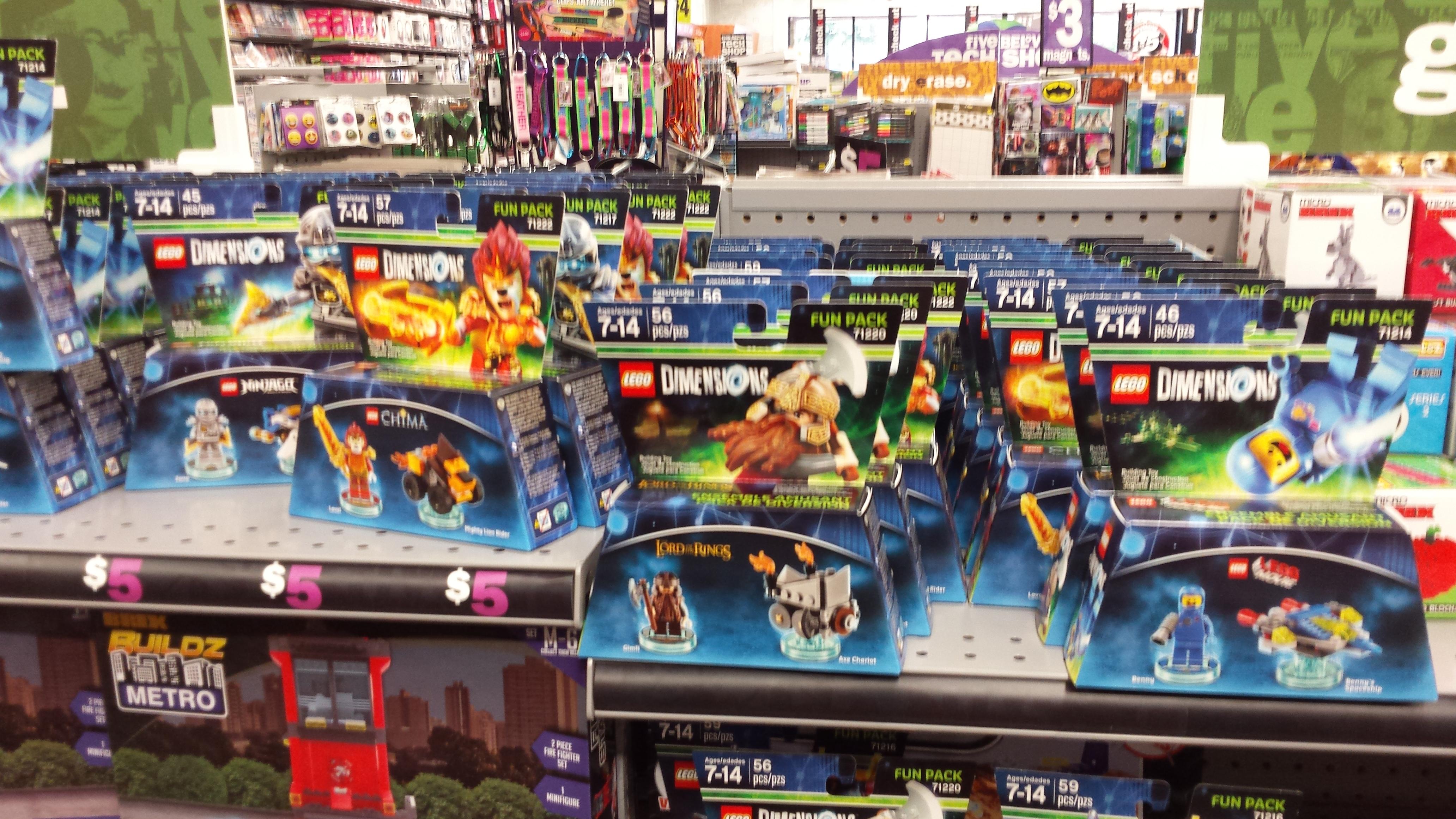 Lego Dimensions Fun packs $5 @ Five Below B&M, YMMV