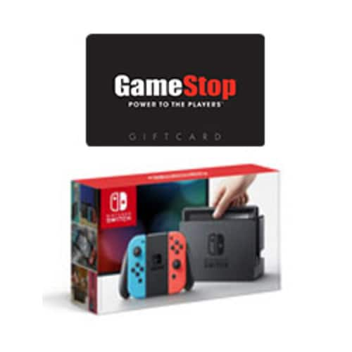 Nintendo Switch Console with Neon Blue and Red Joy-Con (Grey Available too) with $50 GameStop Gift Card $299.00