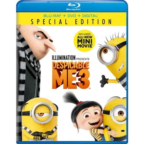 Despicable Me 3 (Special Edition Blu-ray) $15