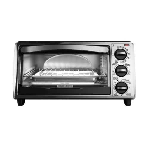 BLACK+DECKER TO1313SBD 4-Slice Toaster Oven, Includes Bake Pan, Broil Rack & Toasting Rack, Black $22