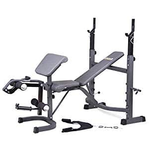 Body Champ BCB5860 Olympic Weight Bench with Preacher Curl, Leg Developer, and Crunch Handle $179.98