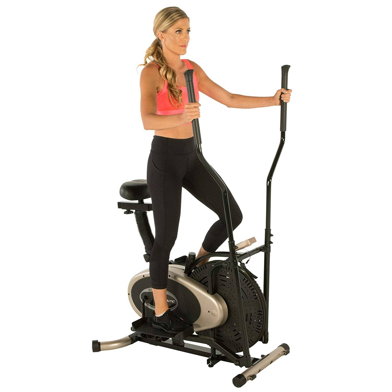 Exerpeutic GOLD Elliptical and Exercise Bike Dual Trainer $109.99